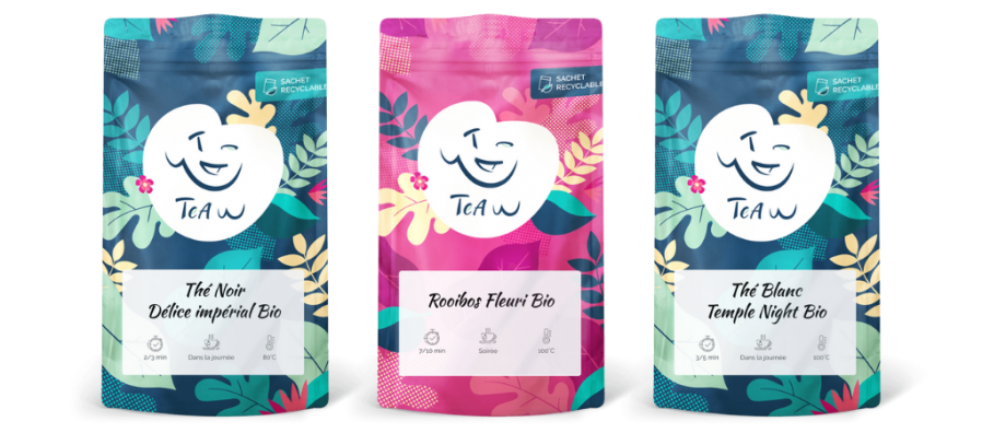Pack thes et rooibos fleuri