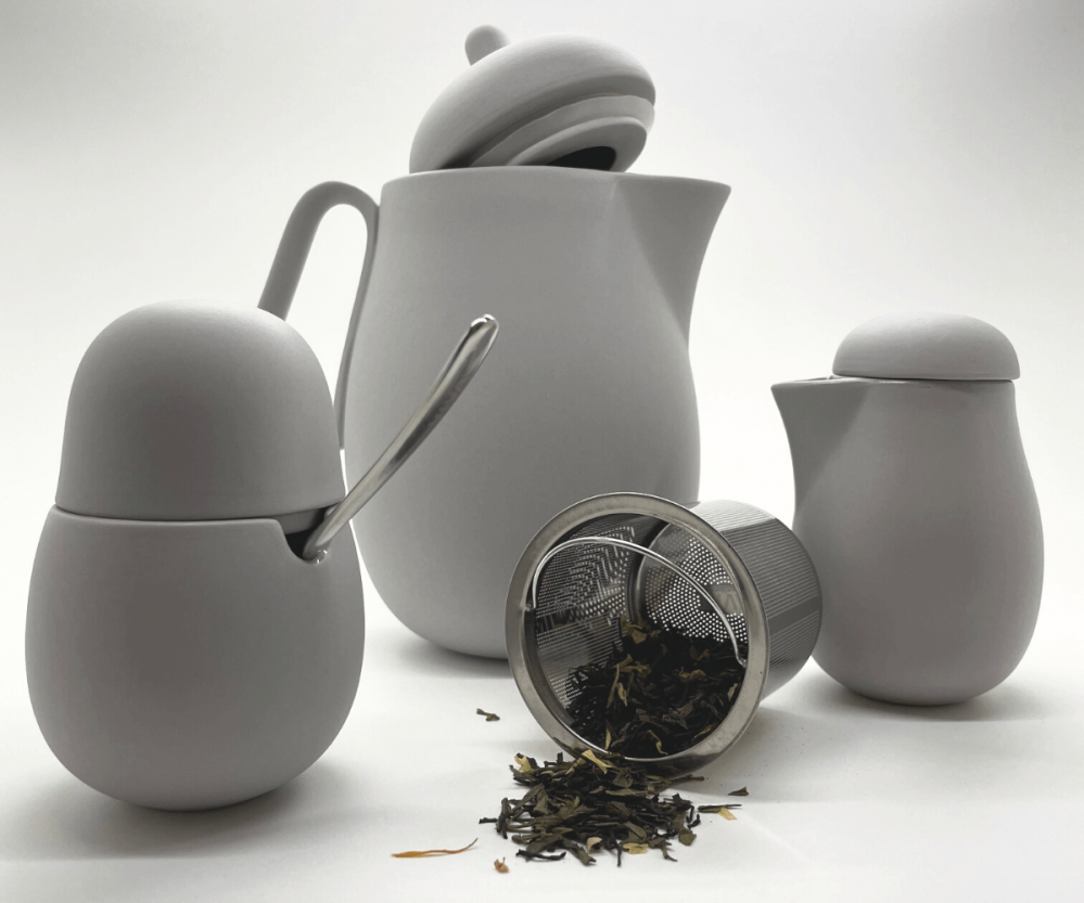 Service a the en porcelaine gris 1