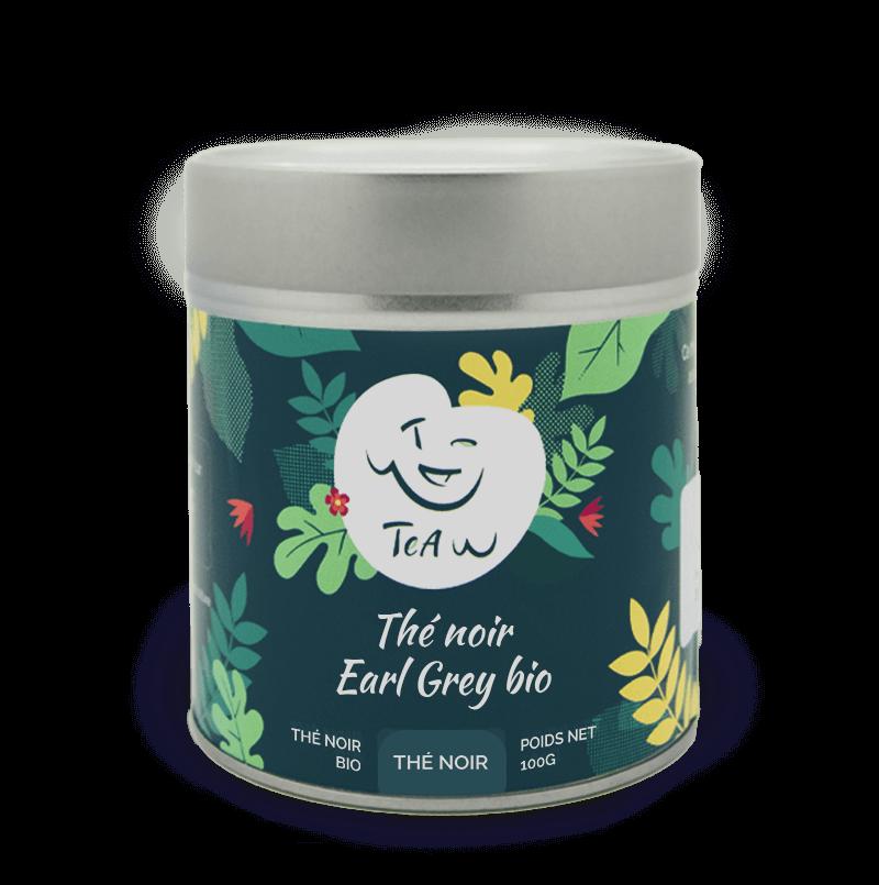 The noir earl grey bio boite fer 1