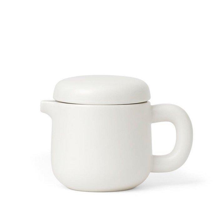 Theiere en porcelaine pure white