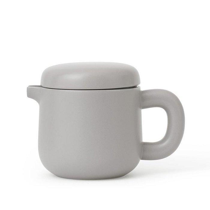 Theiere en porcelaine stone grey